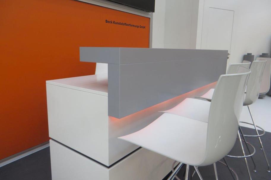 Messebau Projekt für Beck, Kunststofftechnik 4