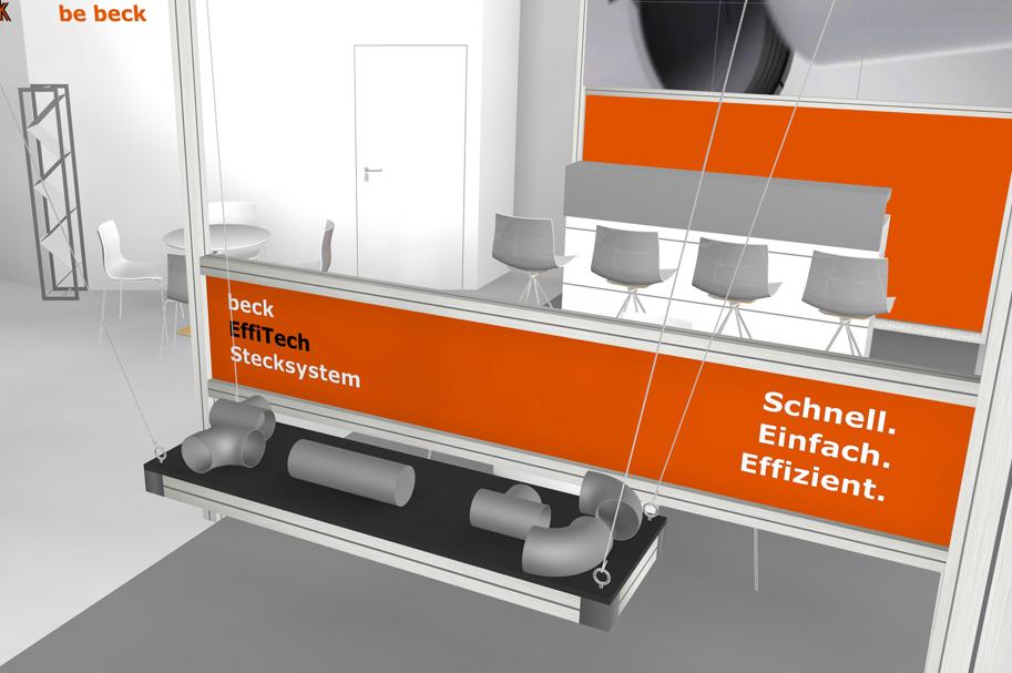 Messebau Projekt für Beck, Kunststofftechnik 5